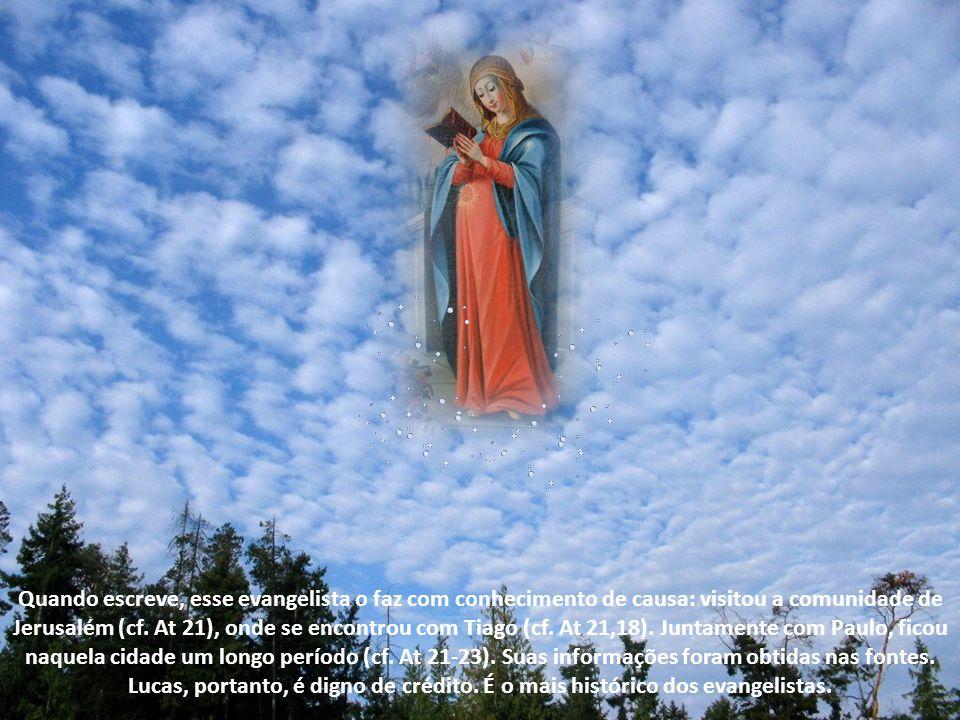 """Diante dessas observações, cabe-nos perguntar: afinal, o """"Magnificat"""" é um canto de Maria, uma criação literária ou o canto de uma comunidade? O canto"""