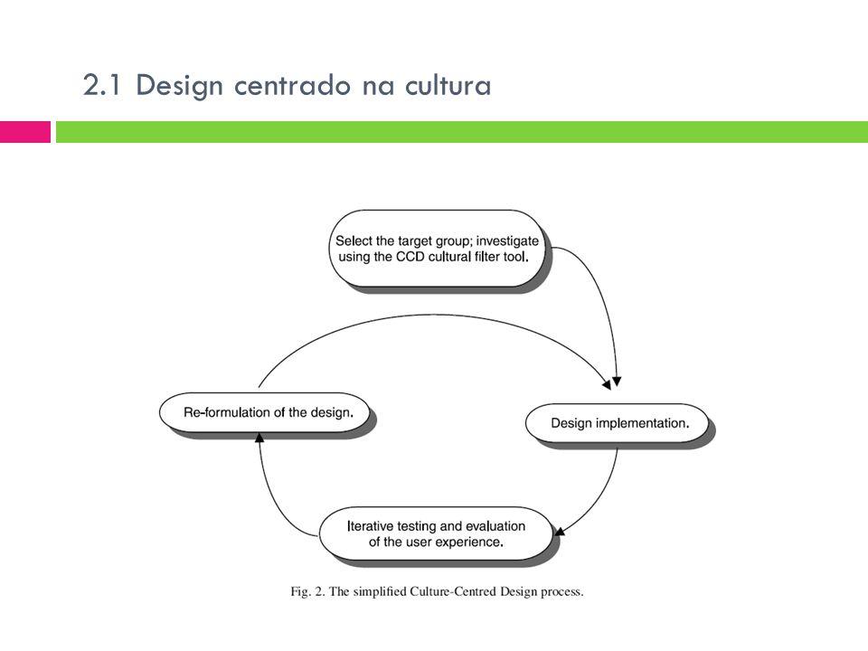 2.1 Design centrado na cultura
