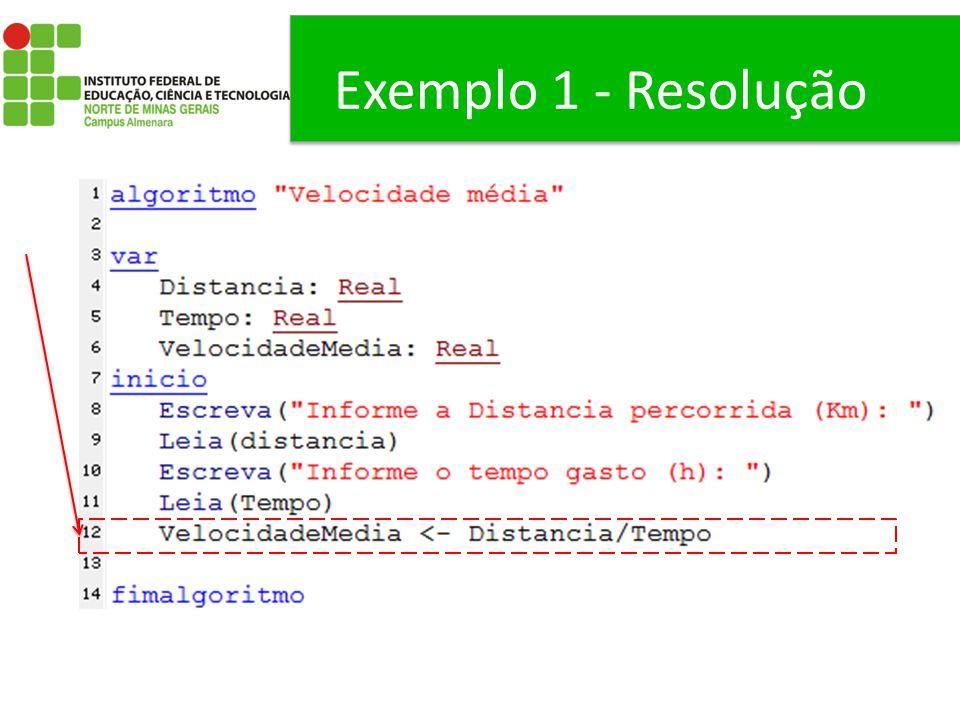 Exemplo 1 - Resolução