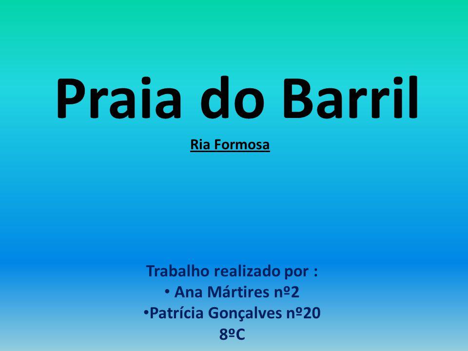 Praia do Barril Ria Formosa Trabalho realizado por : Ana Mártires nº2 Patrícia Gonçalves nº20 8ºC