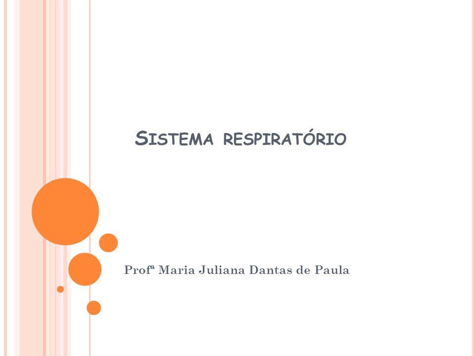S ISTEMA RESPIRATÓRIO Profª Maria Juliana Dantas de Paula