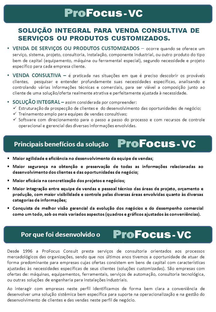 -VC SOLUÇÃO INTEGRAL PARA VENDA CONSULTIVA DE SERVIÇOS OU PRODUTOS CUSTOMIZADOS.
