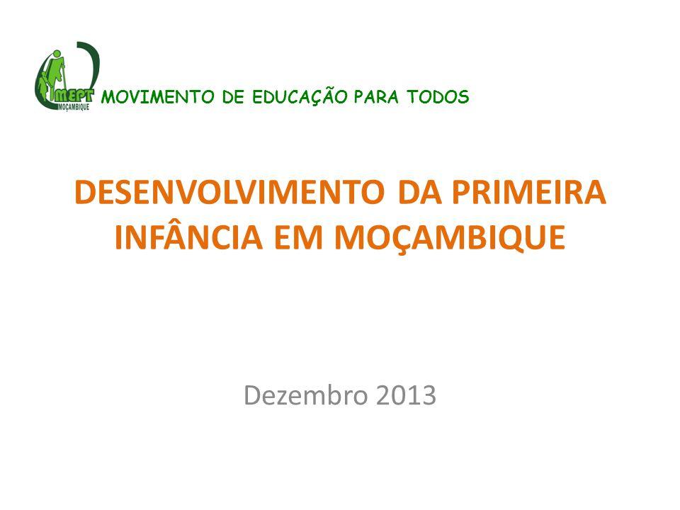 DESENVOLVIMENTO DA PRIMEIRA INFÂNCIA EM MOÇAMBIQUE Dezembro 2013 MOVIMENTO DE EDUCAÇÃO PARA TODOS