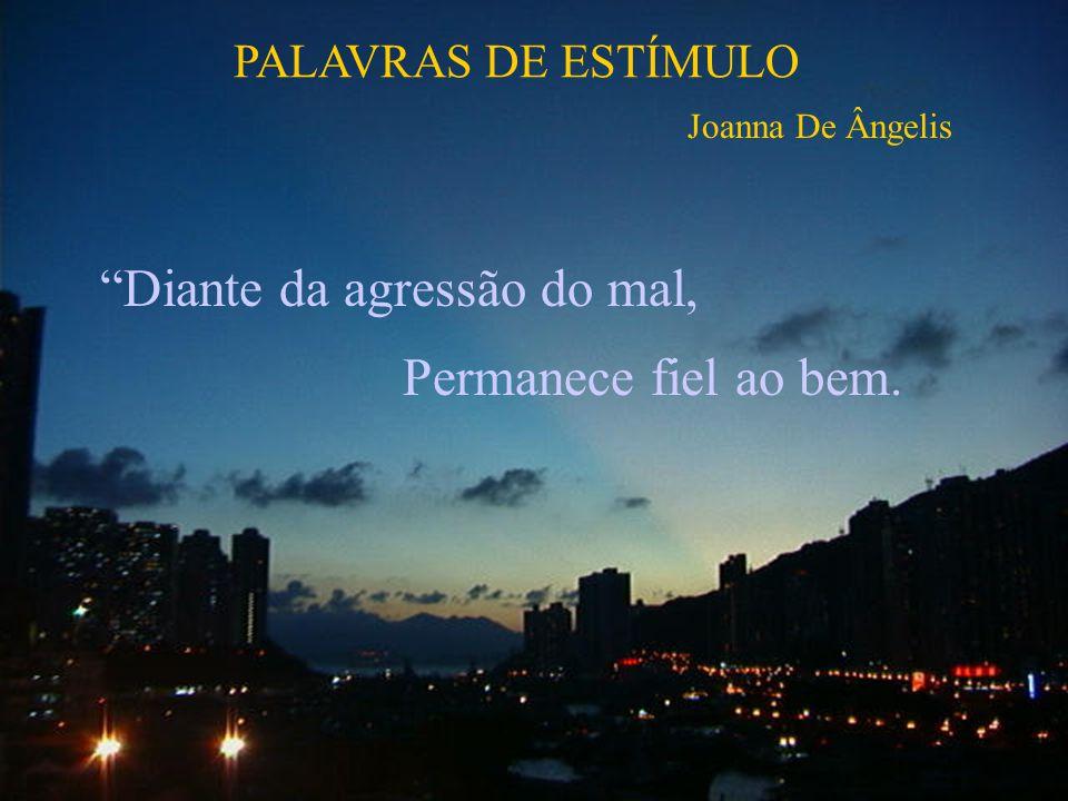 Diante da agressão do mal, Permanece fiel ao bem. PALAVRAS DE ESTÍMULO Joanna De Ângelis