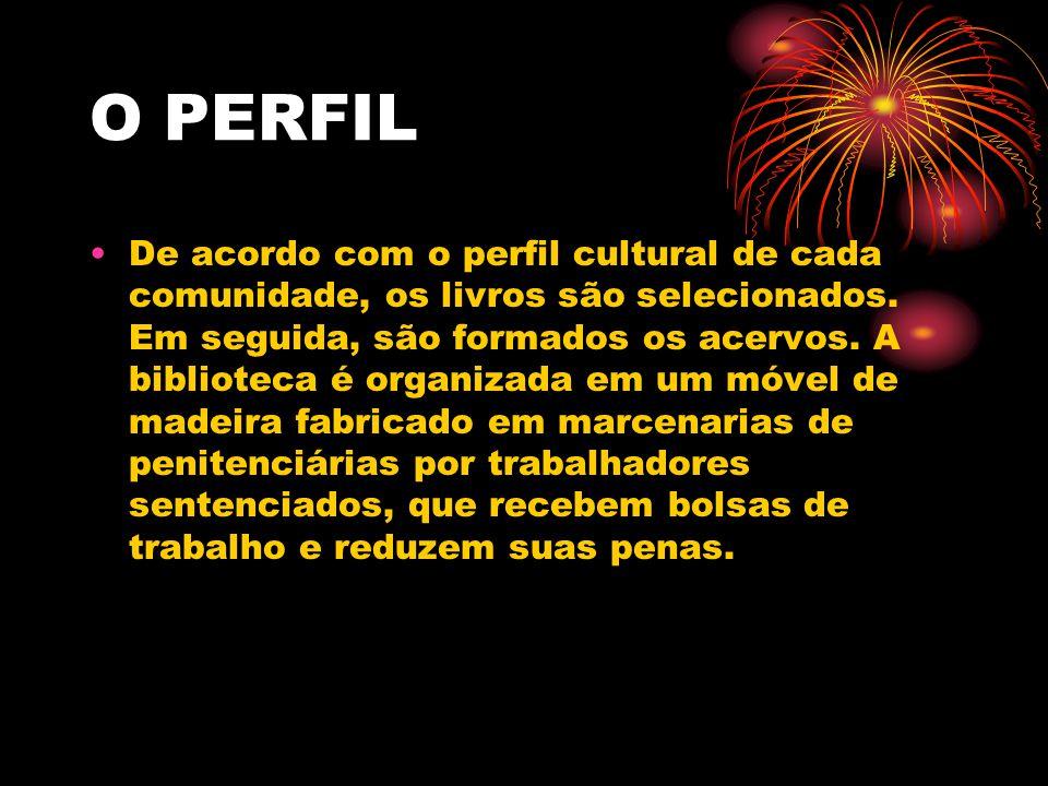 O PERFIL De acordo com o perfil cultural de cada comunidade, os livros são selecionados.