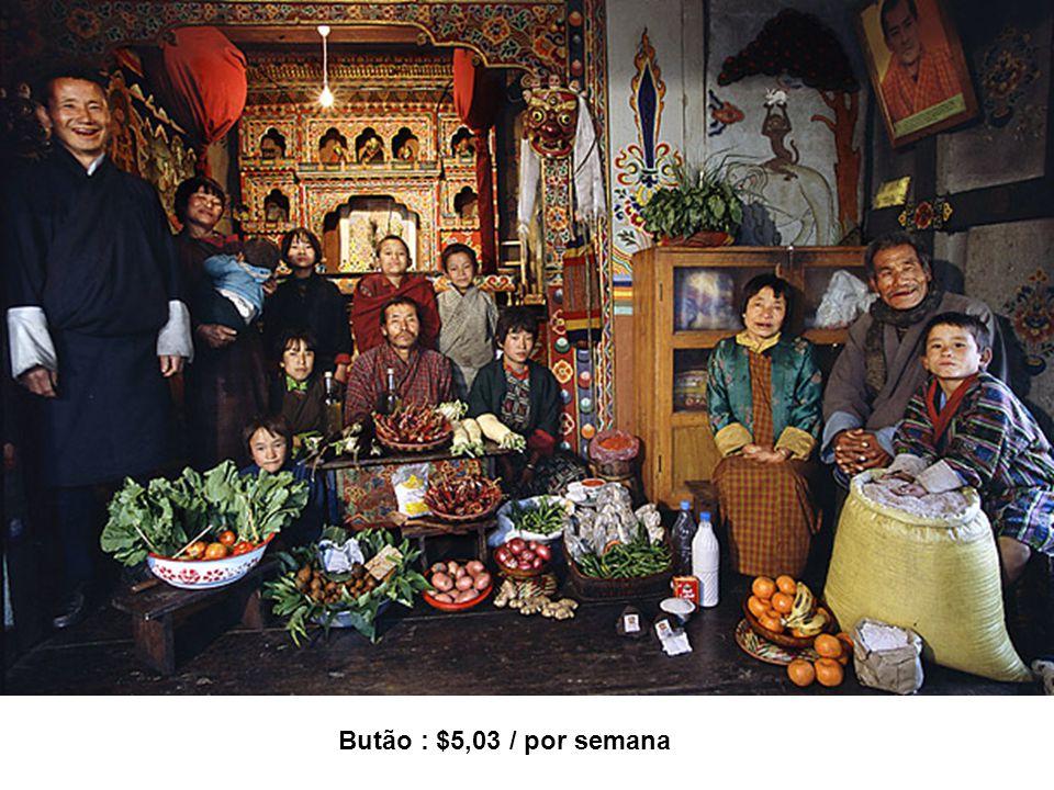 Butão : $5,03 / por semana