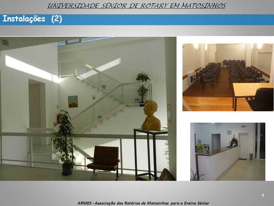 4 ARMES - Associação dos Rotários de Matosinhos para o Ensino Sénior UNIVERSIDADE SÉNIOR DE ROTARY EM MATOSINHOS Instalações (2)