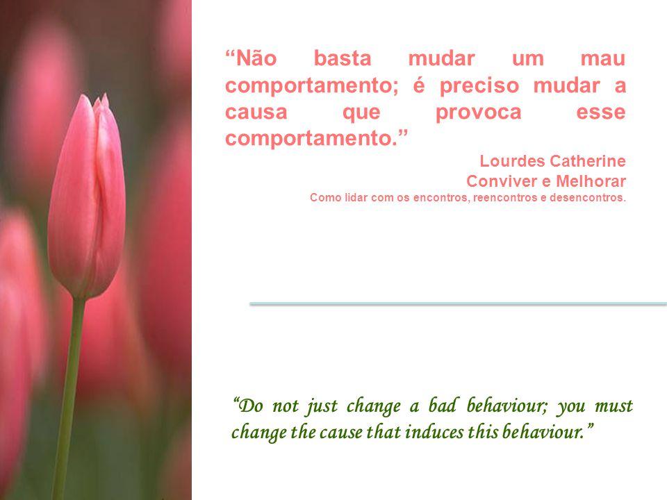 """""""Do not just change a bad behaviour; you must change the cause that induces this behaviour."""" """"Não basta mudar um mau comportamento; é preciso mudar a"""