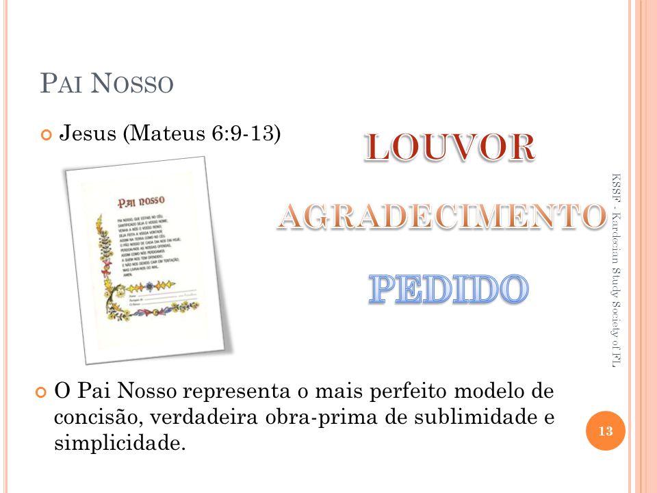 P AI N OSSO O Pai Nosso representa o mais perfeito modelo de concisão, verdadeira obra-prima de sublimidade e simplicidade.