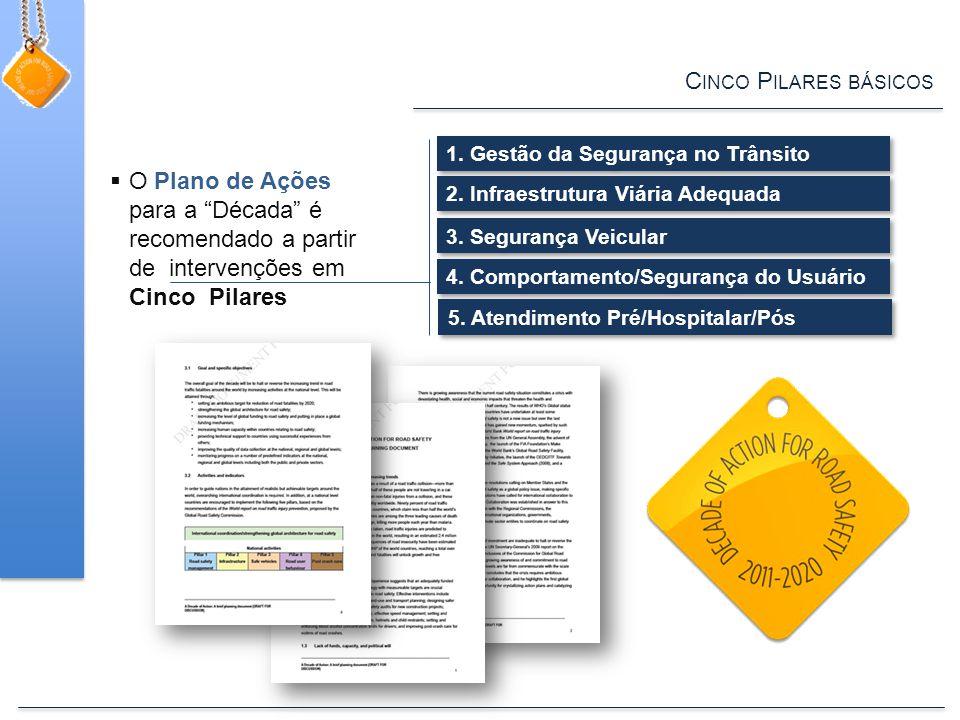 C INCO P ILARES BÁSICOS  O Plano de Ações para a Década é recomendado a partir de intervenções em Cinco Pilares 1.