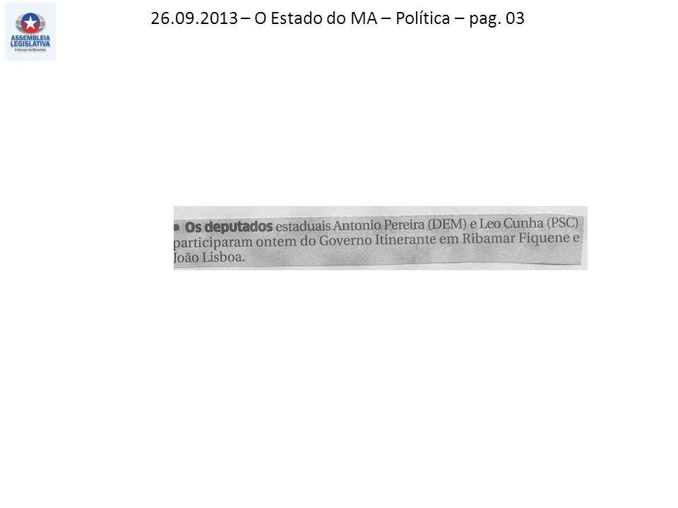 26.09.2013 – O Imparcial – Política – pag. 03