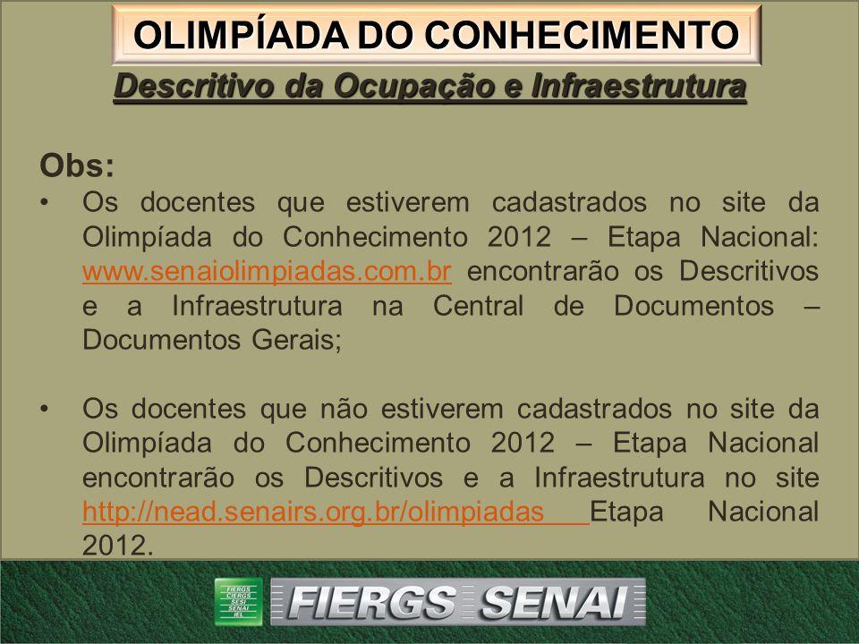 OLIMPÍADA DO CONHECIMENTO Site: www.senaiolimpiadas.com.br Site: www.senaiolimpiadas.com.brwww.senaiolimpiadas.com.br