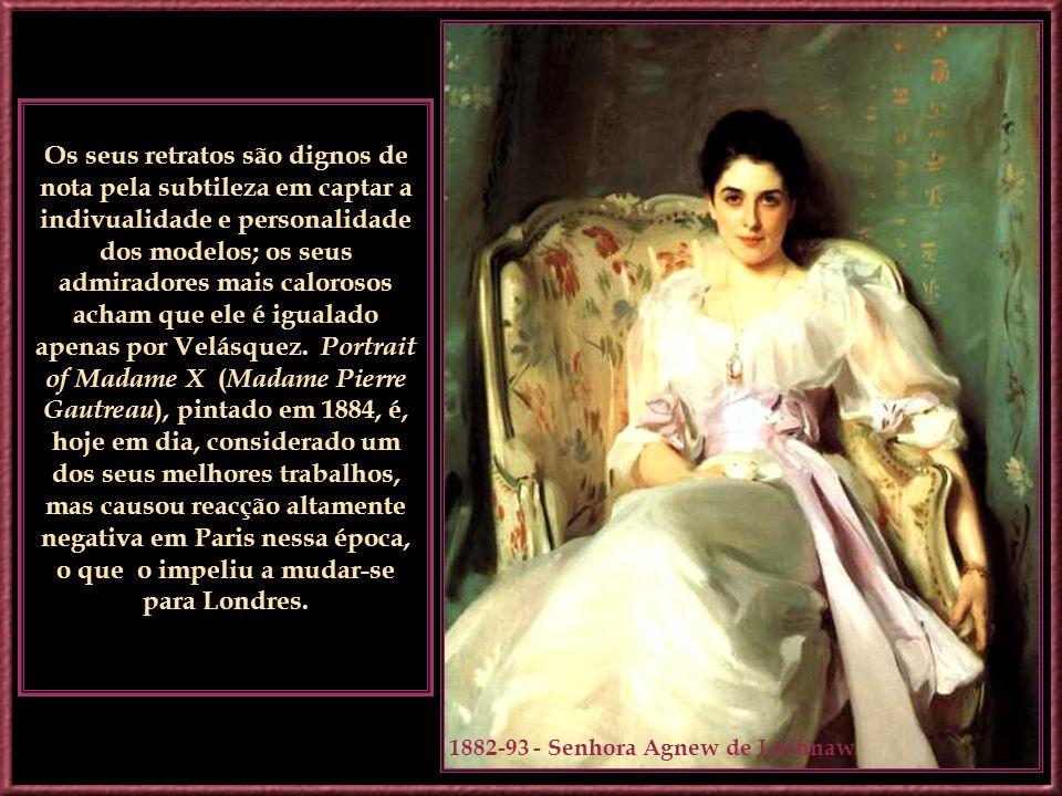 1888 – Em Calcot, Refúgio de Dennis Miller Para Pintar John Singer Sargent foi um pintor conhecido principalmente pelos seus primorosos retratos. Ele