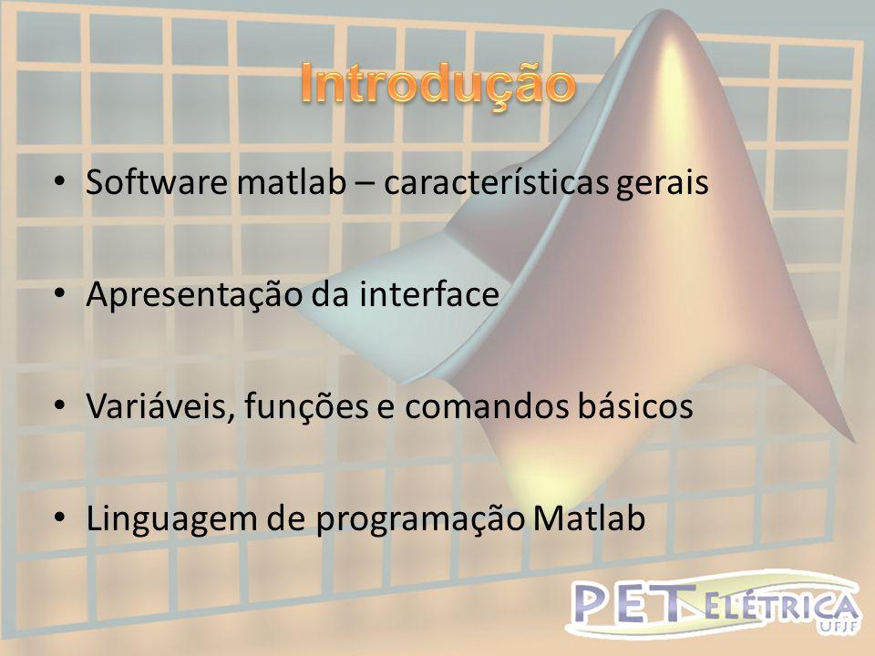 • Mostra todos os arquivos atuais na pasta Matlab;