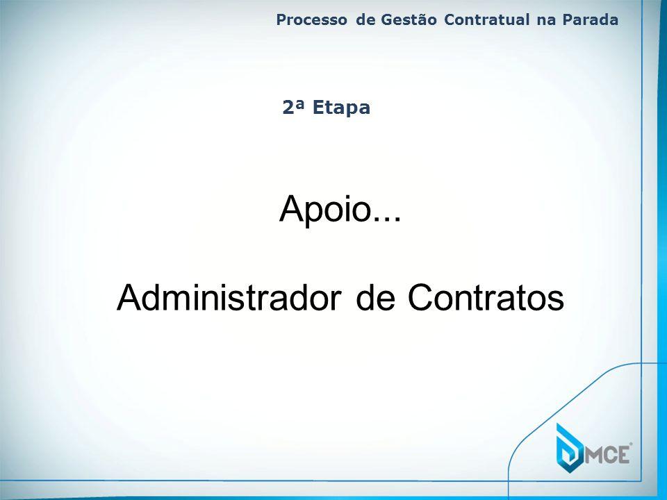 Processo de Gestão Contratual na Parada Apoio... Administrador de Contratos 2ª Etapa
