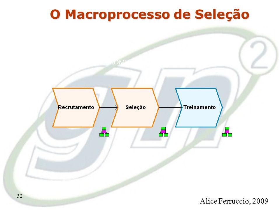 31 O Processo de Provisão MOMENTO DA instituição Alice Ferruccio, 2009