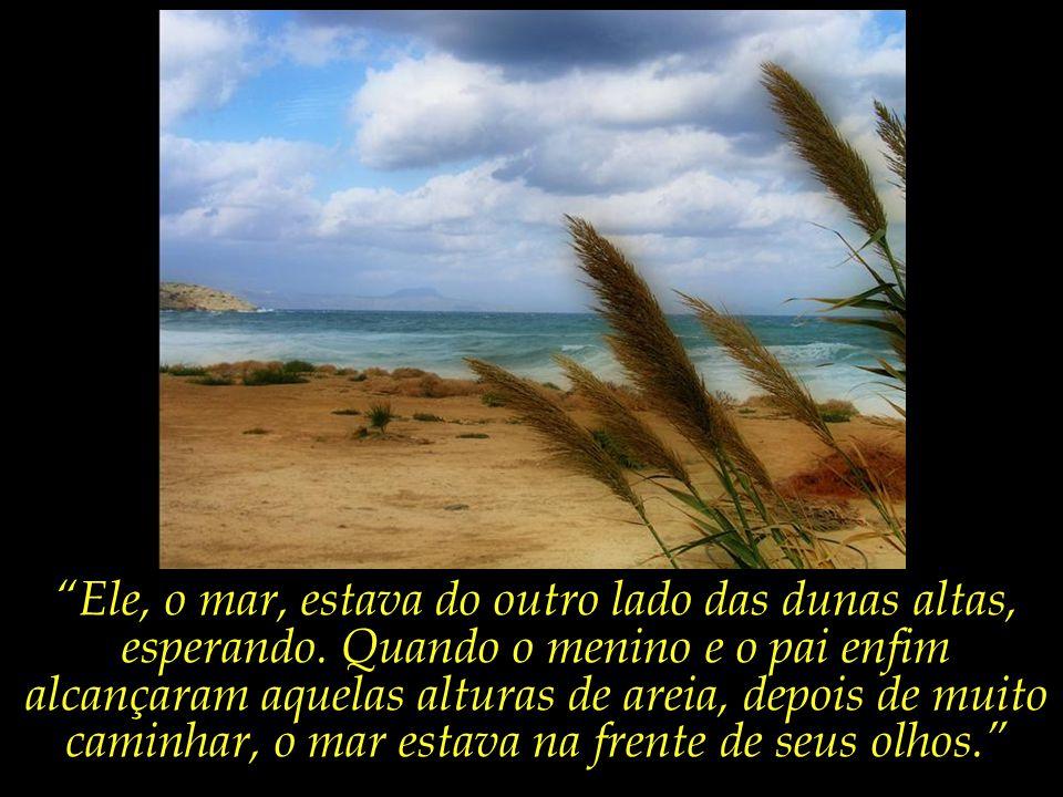 Ele, o mar, estava do outro lado das dunas altas, esperando.
