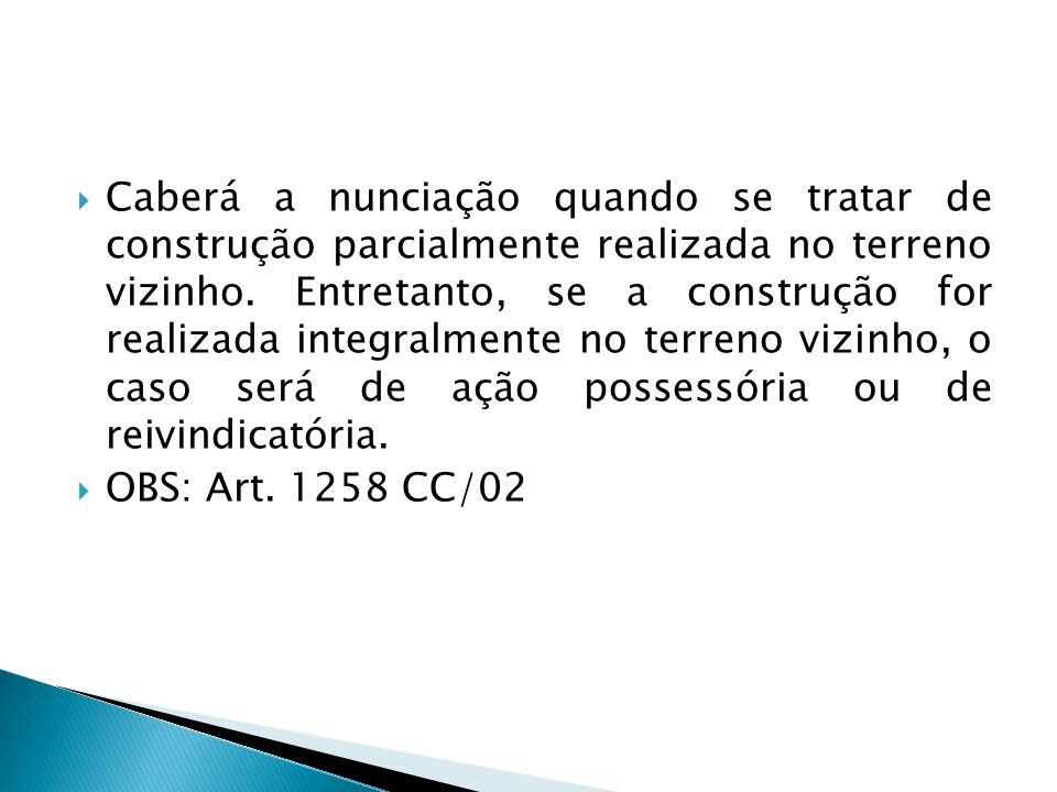  Citação ◦ Todos os confinantes na ação de demarcação e todos os condôminos na ação de divisão deverão ser citados.