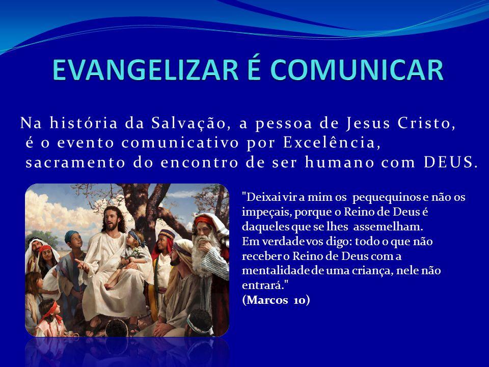 Na história da Salvação, a pessoa de Jesus Cristo, é o evento comunicativo por Excelência, sacramento do encontro de ser humano com DEUS.