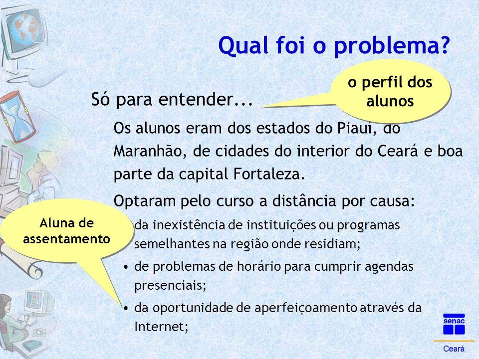Qual foi o problema? Só para entender... Os alunos eram dos estados do Piauí, do Maranhão, de cidades do interior do Ceará e boa parte da capital Fort