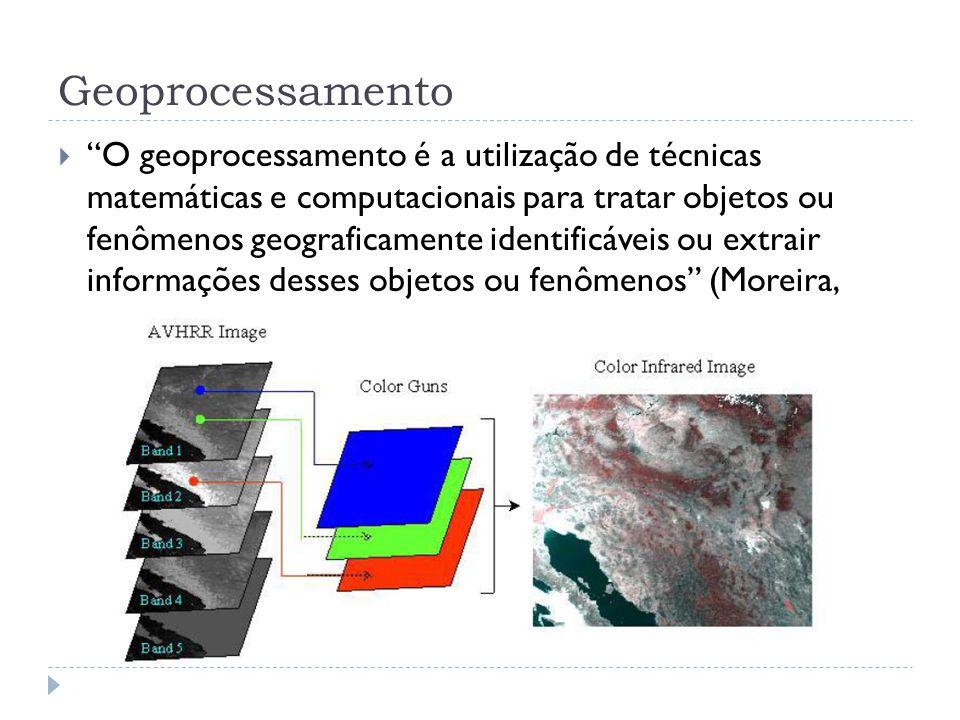 """Geoprocessamento  """"O geoprocessamento é a utilização de técnicas matemáticas e computacionais para tratar objetos ou fenômenos geograficamente identi"""