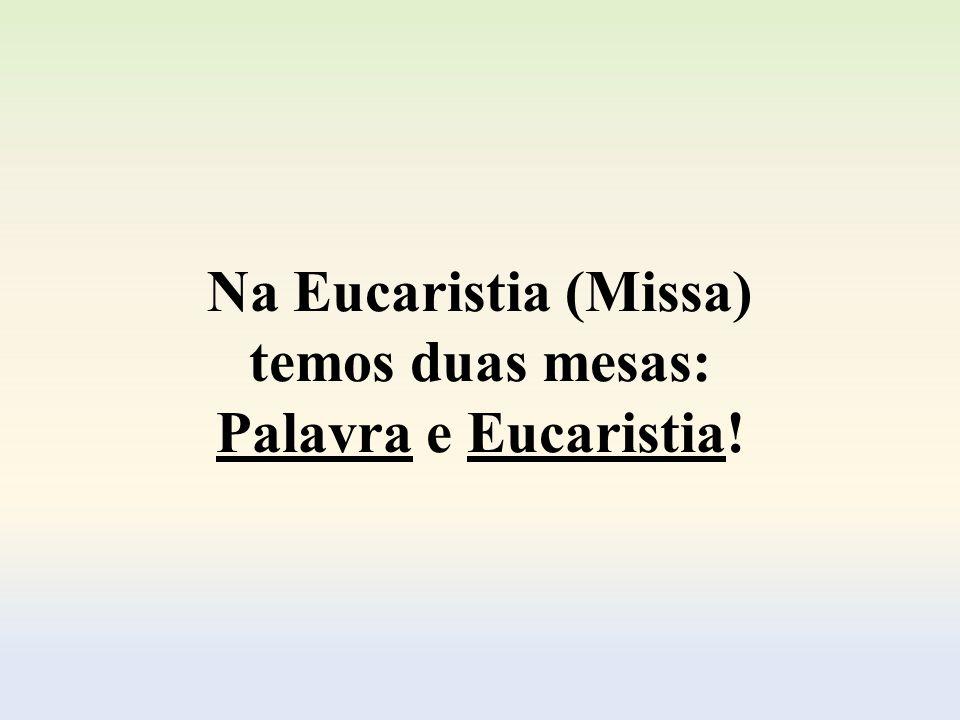 Para encerrar a nossa reflexão, vamos meditar um pouco (um tanto breve) sobre a Santa Missa, destacando a Palavra de Deus e a Oração Eucarística...