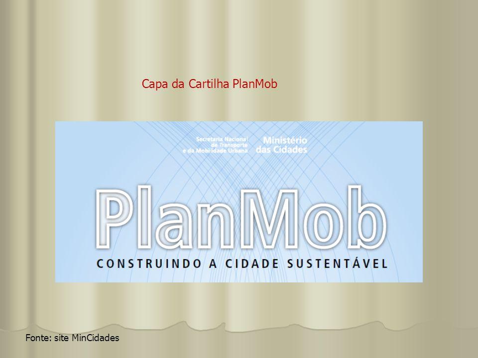 Fonte: site MinCidades Capa da Cartilha PlanMob