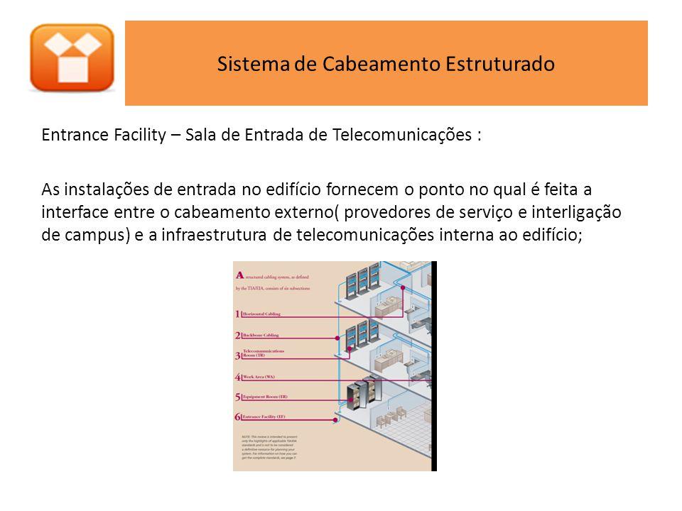 Equipment Room - Sala de Equipamento: Possui os equipamentos de telecomunicações com maior complexidade que as salas de telecomunicações (switch,roteadores, bancos de modem, multiplexadores, centrais telefônicas, central de CFTV, etc);