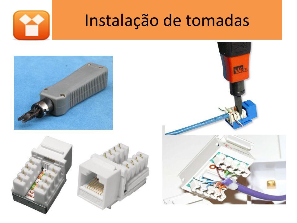 Projeto de infraestrutura Dispositivo de rede (A) Patch-cords (B) Patch panel (C) Cabeamento horizontal (D) Tomadas (E)