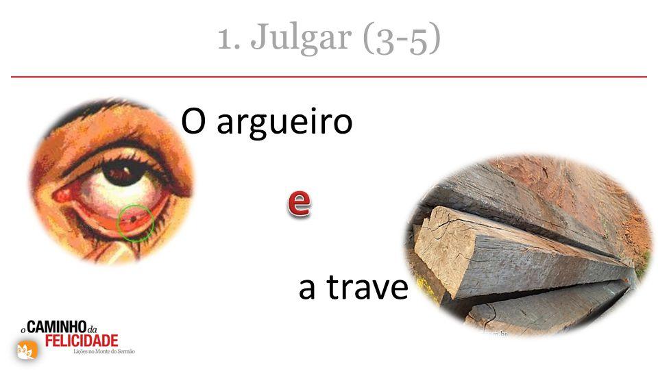 1. Julgar (3-5) O argueiro a trave