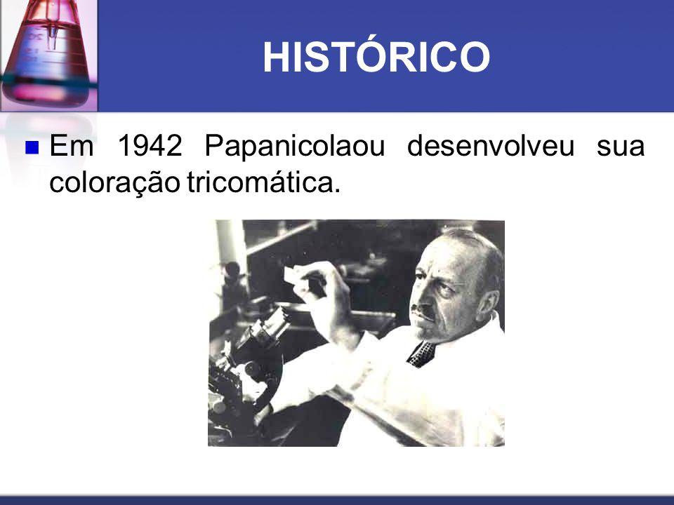 HISTÓRICO  Em 1942 Papanicolaou desenvolveu sua coloração tricomática.