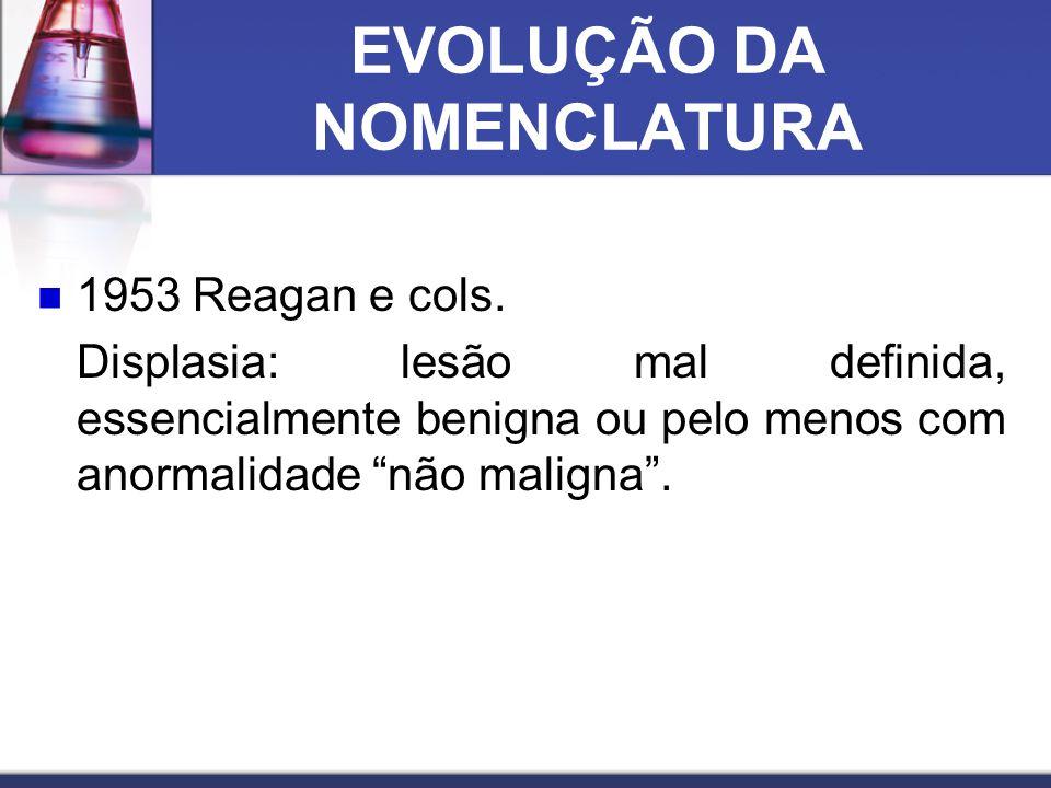 EVOLUÇÃO DA NOMENCLATURA  1953 Reagan e cols.