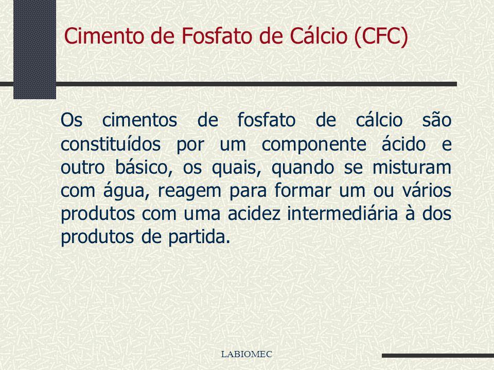 LABIOMEC Cimento de Fosfato de Cálcio (CFC) Um cimento CFC pode ser preparado misturando-se um sal de fosfato de cálcio com água ou com uma solução aq