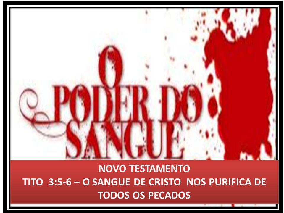 NOVO TESTAMENTO TITO 3:5-6 – O SANGUE DE CRISTO NOS PURIFICA DE TODOS OS PECADOS NOVO TESTAMENTO TITO 3:5-6 – O SANGUE DE CRISTO NOS PURIFICA DE TODOS