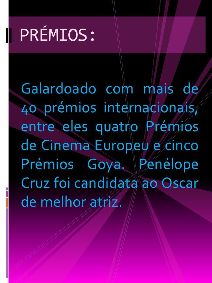 Galardoado com mais de 40 prémios internacionais, entre eles quatro Prémios de Cinema Europeu e cinco Prémios Goya.