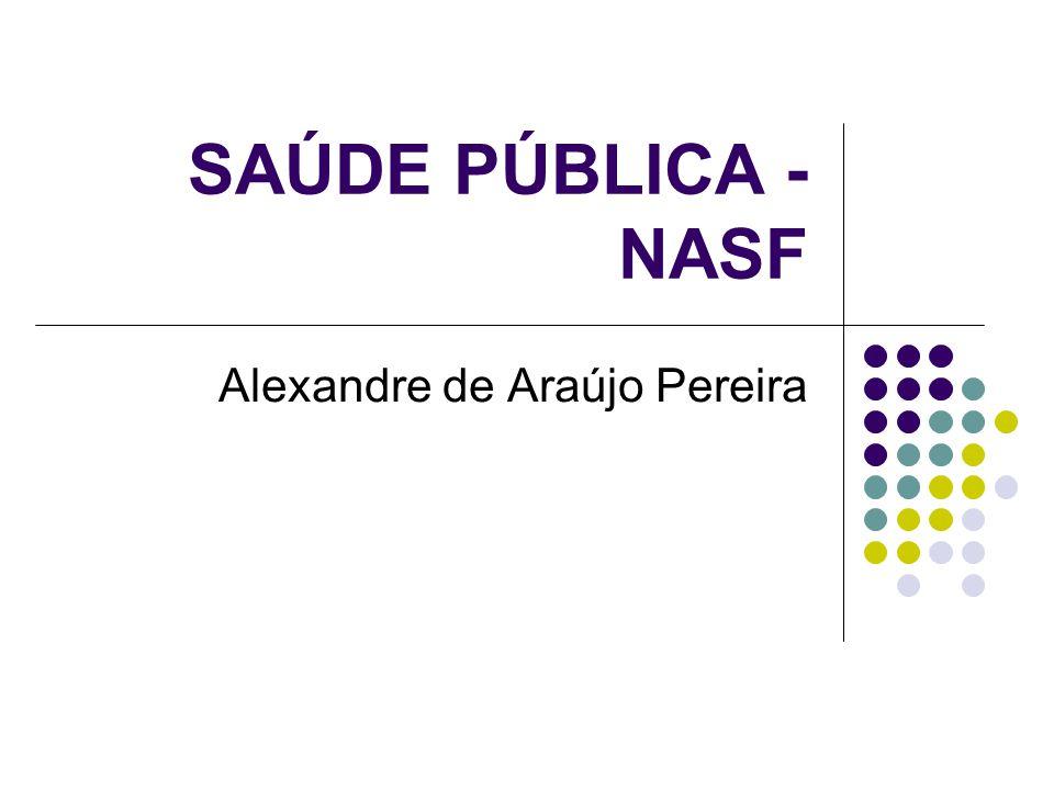 NÚCLEO DE APOIO AO S.F. Portaria:GM154 de 01/2008  Objetivos: 1.