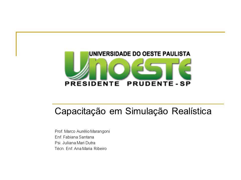 Capacitação em Simulação Realística Prof.Marco Aurélio Marangoni Enf.