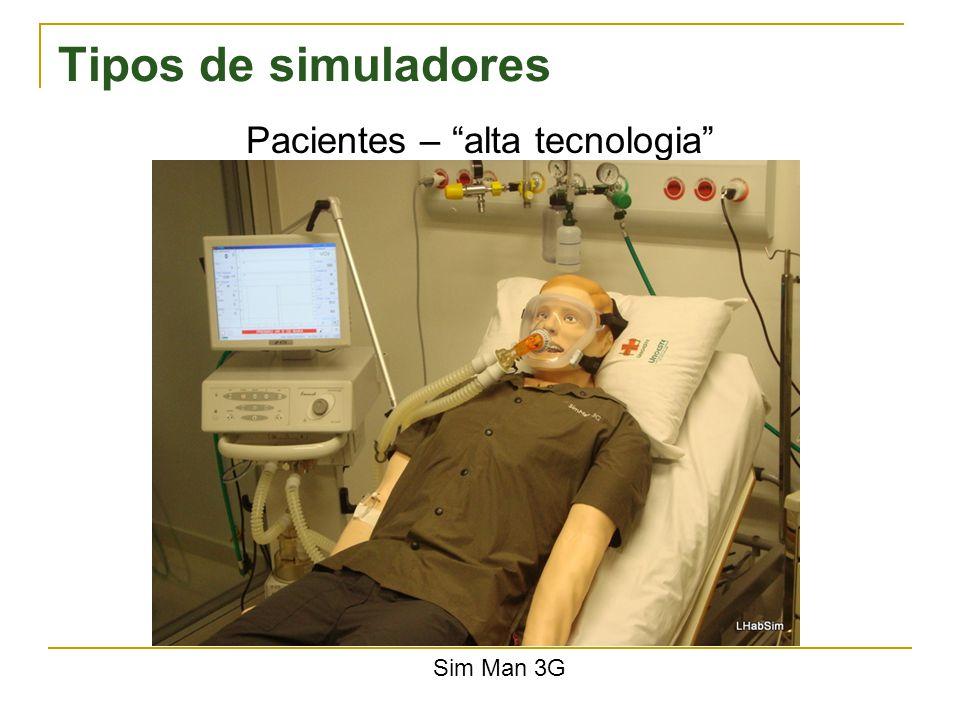 Tipos de simuladores Pacientes – alta tecnologia Sim Man 3G