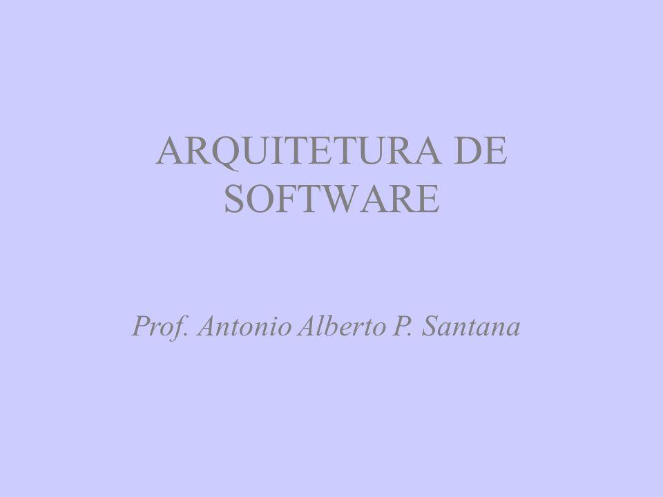 ARQUITETURA DE SOFTWARE Prof. Antonio Alberto P. Santana