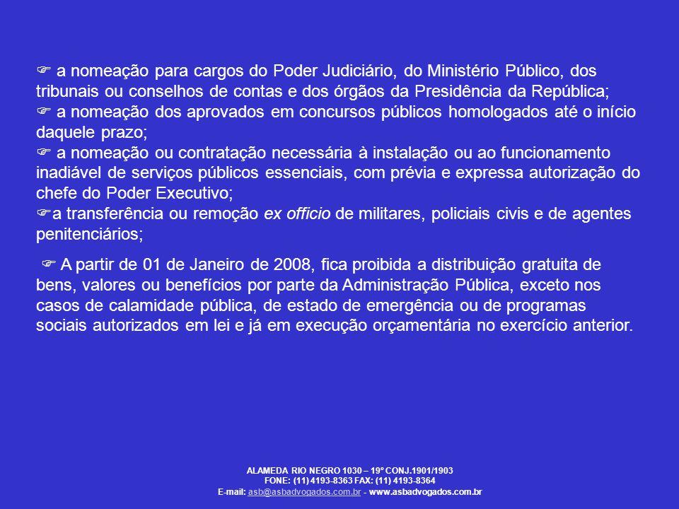  a nomeação para cargos do Poder Judiciário, do Ministério Público, dos tribunais ou conselhos de contas e dos órgãos da Presidência da República; 