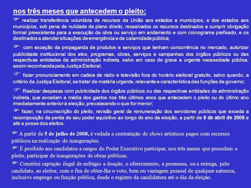 Condições de Elegibilidade ( Constituição da República Federativa do Brasil – Art.
