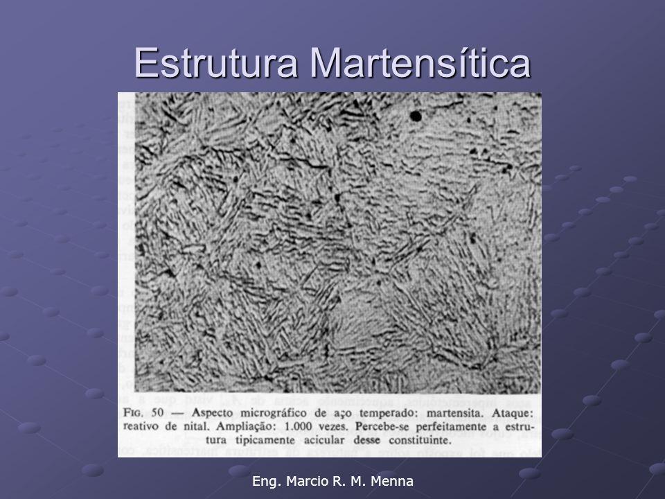 Eng. Marcio R. M. Menna Estrutura Martensítica