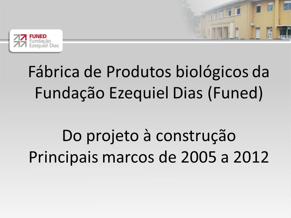 Fábrica de Produtos biológicos da Fundação Ezequiel Dias (Funed) Do projeto à construção Principais marcos de 2005 a 2012