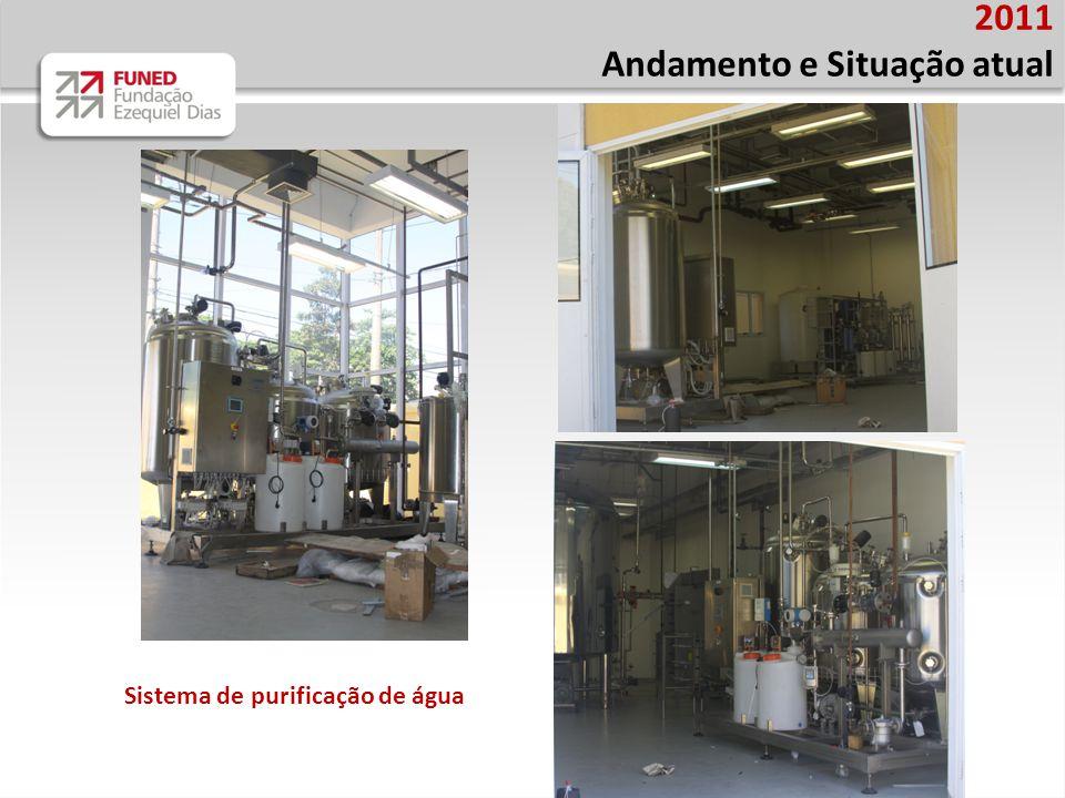 2011 Andamento e Situação atual Sistema de purificação de água