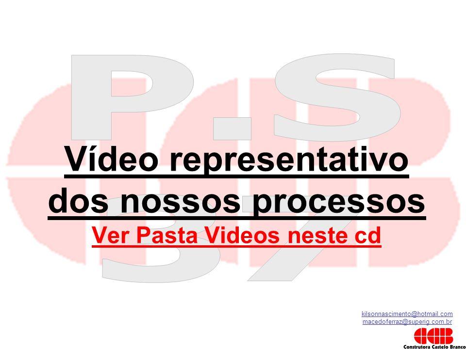 kilsonnascimento@hotmail.com macedoferraz@superig.com.br Vídeo representativo dos nossos processos Ver Pasta Videos neste cd