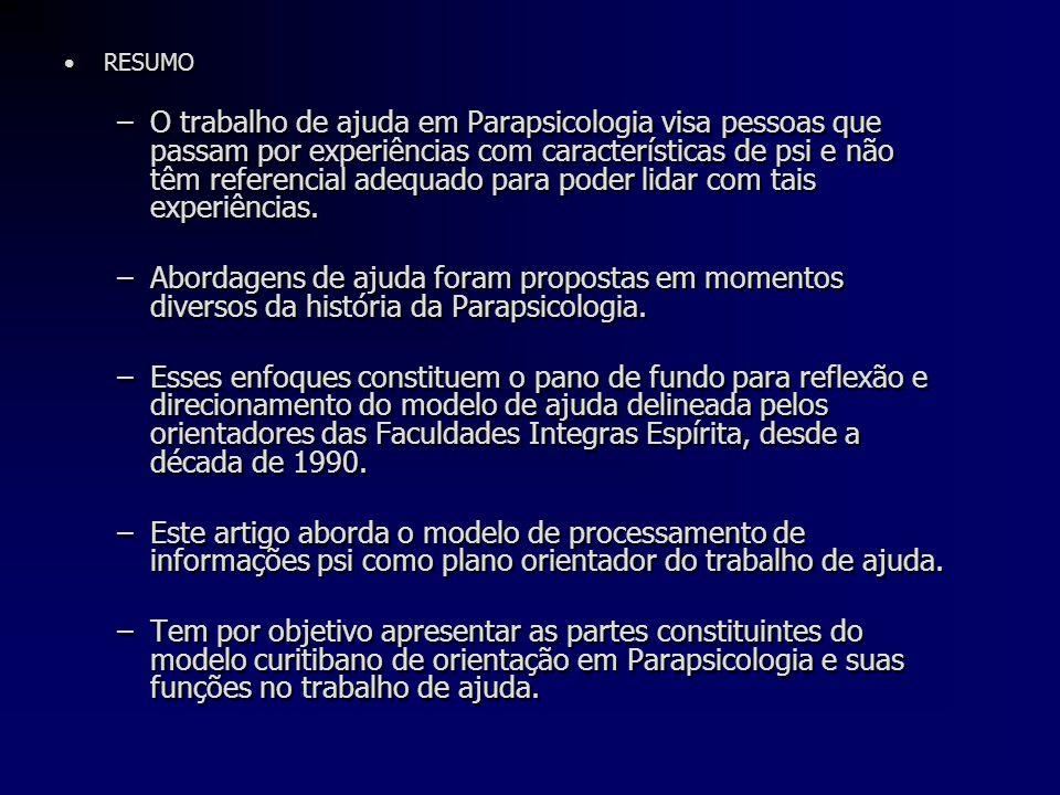 Abordagens do Trabalho de Ajuda •Publicação do livro Canais Ocultos da Mente (L.