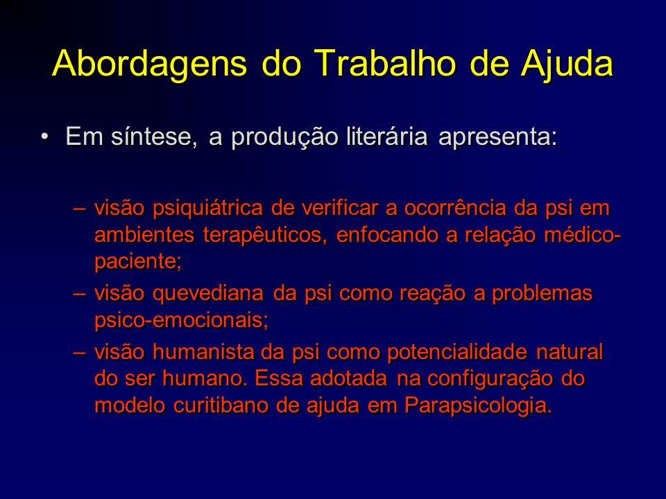 O modelo curitibano de Orientação em Parapsicologia •década de 1990 com a proposta de desenvolver bases teórico-metodológica que pudessem servir de referencial aos novos parapsicólogos interessados no trabalho de ajuda.