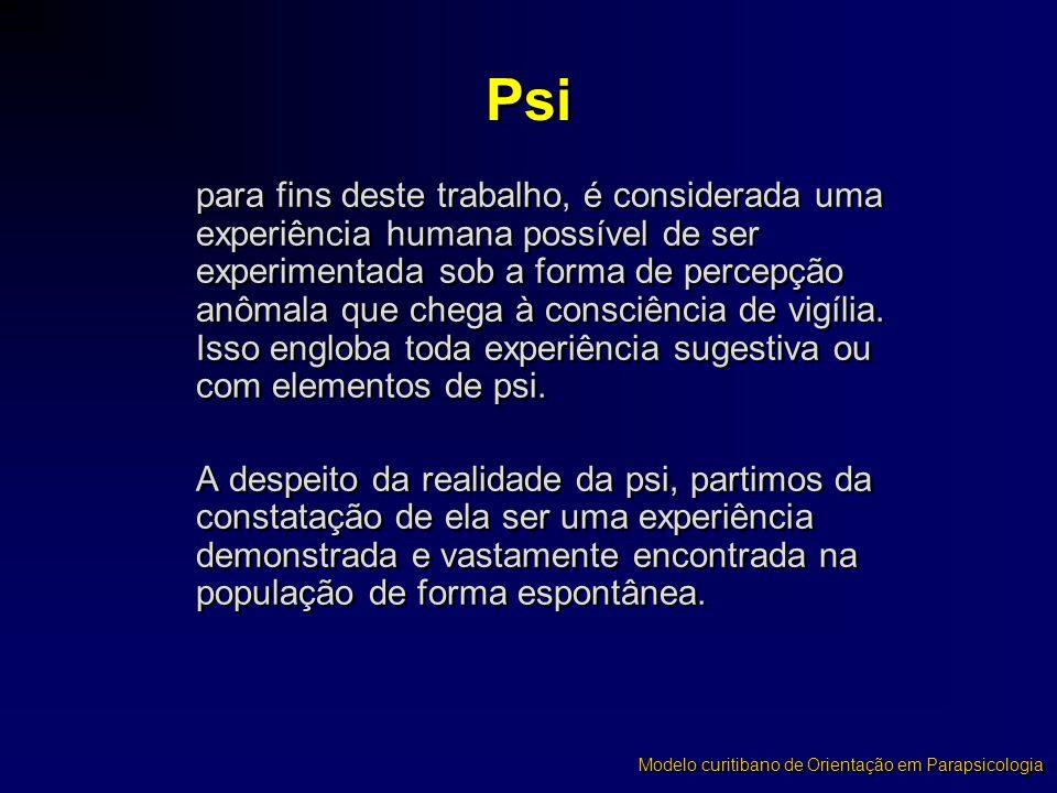 Obrigado pelo interesse ! Modelo curitibano de Orientação em Parapsicologia
