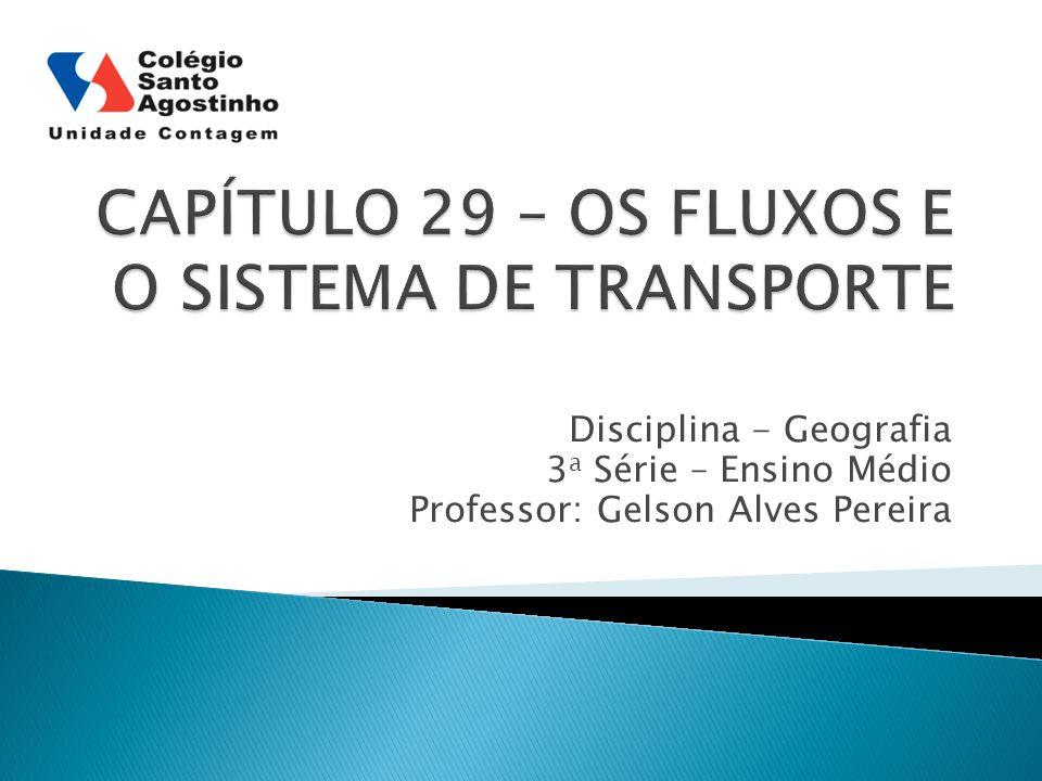 Disciplina - Geografia 3 a Série – Ensino Médio Professor: Gelson Alves Pereira