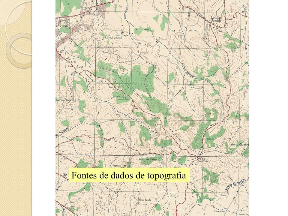 Fontes de dados de topografia